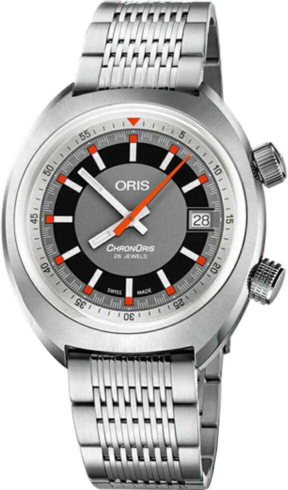 正規品 腕時計 オリス ORIS クロノリス デイト ブレス 機械式自動巻 メンズ 73377374053M 733.7737.4053M【ショッピングローン24回無金利】