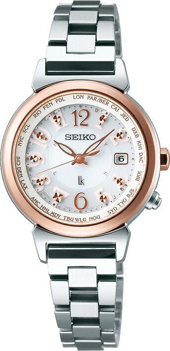 腕時計 セイコー ルキア SSVV002 ソーラー電波時計 レディース ワールドタイム ラッキーパスポート 正規品