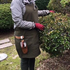 【帆布ガーデニングエプロン】【全5色】庭仕事・ガーデニング退職のお祝い・父の日・開店祝い/売れ筋
