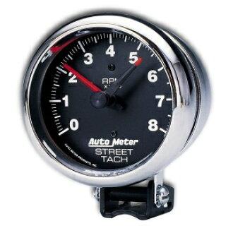 转速计 8000 RPM 街 4 / 6 / 8 缸的铬