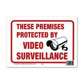 PROTECTED BY VIDEO SURVEILLANCE (監視カメラ作動中) メッセージプレート