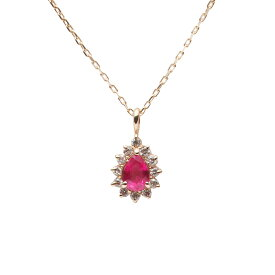 ルビー ネックレス ダイヤモンド Color Jewels ペンダント ルビー K10 レディース 7月 誕生石DES0411CJ-14000000 ムーンレーベル Moon Label