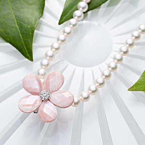 真珠母貝 ショートナー Flower ショートナー ・ L (フラワー ショートナー・ピンク) レディース
