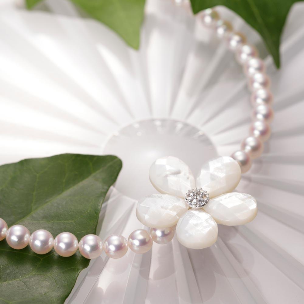 【ポイント10倍】 真珠母貝 ショートナー Flower ショートナー ・ L (フラワー ショートナー・ホワイト) レディース
