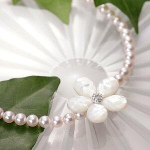 真珠母貝 ショートナー Flower ショートナー ・ L (フラワー ショートナー・ホワイト) レディース