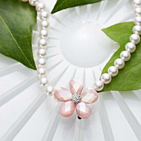 真珠母貝 ショートナー Flower ショートナー ・ M (フラワー ショートナー・ピンク) レディース