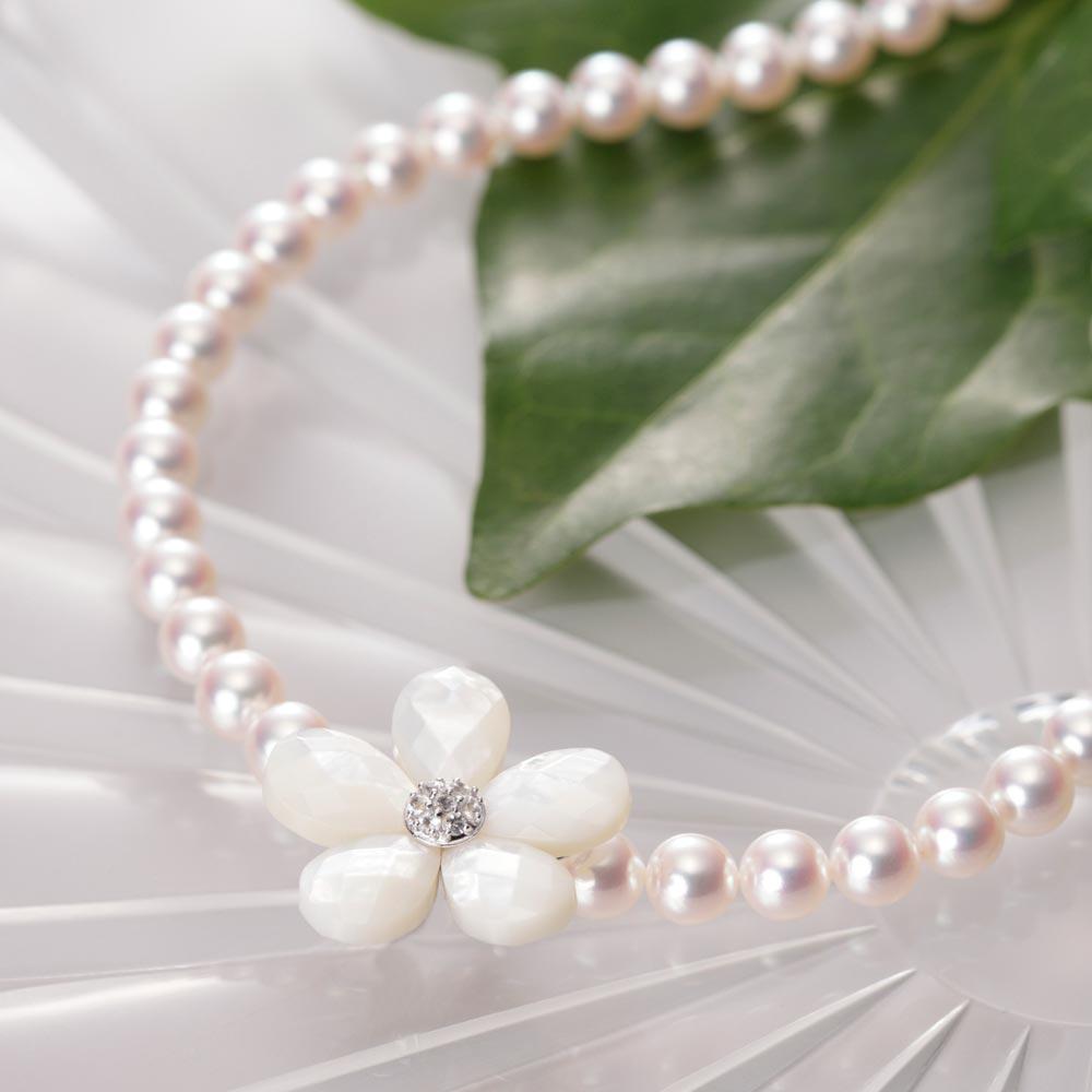 【ポイント10倍】 真珠母貝 ショートナー/Flower ショートナー ・ M (フラワー ショートナー・ホワイト) レディース