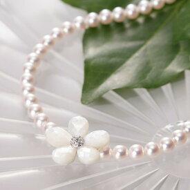 真珠母貝 ショートナー/Flower ショートナー ・ M (フラワー ショートナー・ホワイト) レディース