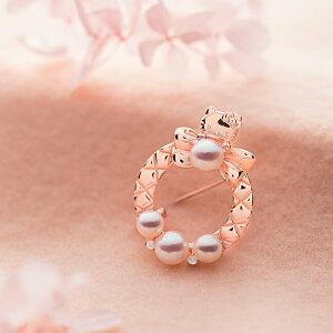 ハローキティ ブローチ Hello Kitty Pink Sweet Quilt ブローチ レディース ホワイトトパーズ