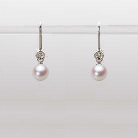 あこや真珠 パール ピアス 5.5mm アコヤ 真珠 ピアス K18WG ホワイトゴールド レディース HA00055R11WPN885W0