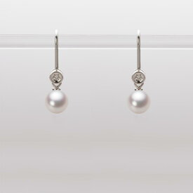 あこや真珠 パール ピアス 5.5mm アコヤ 真珠 ピアス K18WG ホワイトゴールド レディース HA00055R13WPN885W0
