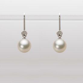 あこや真珠 パール ピアス 7.5mm アコヤ 真珠 ピアス K18WG ホワイトゴールド レディース HA00075R12CG0885W0
