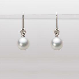 あこや真珠 パール ピアス 7.5mm アコヤ 真珠 ピアス K18WG ホワイトゴールド レディース HA00075R12NW0885W0