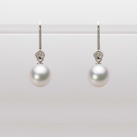 あこや真珠 パール ピアス 7.5mm アコヤ 真珠 ピアス K18WG ホワイトゴールド レディース HA00075R12WPG885W0