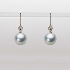 あこや真珠 パール ピアス 8.0mm アコヤ 真珠 ピアス K18WG ホワイトゴールド レディース HA00080R11SG0885W0