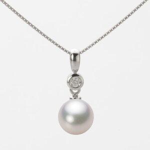 あこや真珠 パール ペンダント トップ 8.0mm アコヤ 真珠 ペンダント トップ K18WG ホワイトゴールド レディース HA00080R13WPG725W0-T