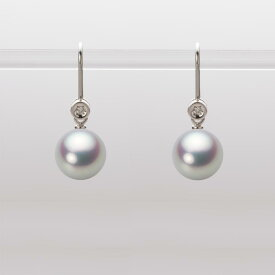 あこや真珠 パール ピアス 8.5mm アコヤ 真珠 ピアス K18WG ホワイトゴールド レディース HA00085R11SG0885W0