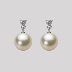 あこや真珠 パール ピアス 8.5mm アコヤ 真珠 ピアス K18WG ホワイトゴールド レディース HA00085R12CG0617W0