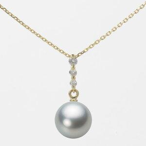 パール ネックレス 一粒 あこや真珠 8.5mm アコヤ 真珠 ペンダント K18 イエローゴールド レディース HA00085R12SG0797Y0 ムーンレーベル Moon Label