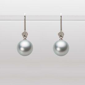 あこや真珠 パール ピアス 8.5mm アコヤ 真珠 ピアス K18WG ホワイトゴールド レディース HA00085R12SG0885W0