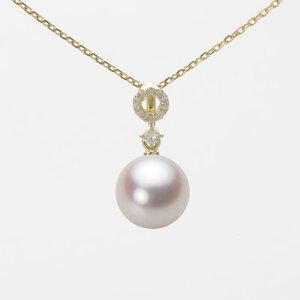 パール ネックレス 一粒 あこや真珠 8.5mm アコヤ 真珠 ペンダント K18 イエローゴールド レディース HA00085R13WPN1474Y ムーンレーベル Moon Label
