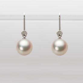 あこや真珠 パール ピアス 9.0mm アコヤ 真珠 ピアス K18WG ホワイトゴールド レディース HA00090R11CG0885W0