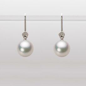 あこや真珠 パール ピアス 9.0mm アコヤ 真珠 ピアス K18WG ホワイトゴールド レディース HA00090R11CW0885W0
