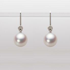 あこや真珠 パール ピアス 9.0mm アコヤ 真珠 ピアス K18WG ホワイトゴールド レディース HA00090R12WPN885W0