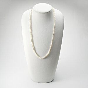 ベビーパール ネックレス ロング あこや真珠 5.0mm アコヤ真珠 60cm セミロング パールネックレス レディース FIN0102CA50O52WG60 ムーンレーベル Moon Label