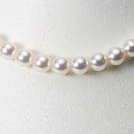 【ポイント10倍】 あこや真珠 パール ネックレス 8.0mm アコヤ 真珠 ネックレス レディース CA00080R32WPN00000