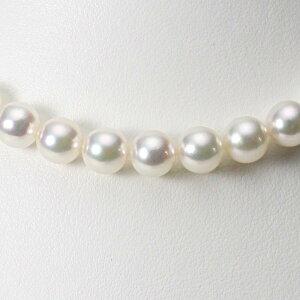 あこや真珠 パール ネックレス 9.0mm アコヤ 真珠 ネックレス レディース CA00090R23WPG00000