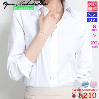 Shirt blouse V neck business office Y shirt stripe formal suit Recruit job hunting finding employment female office worker office uniform plain fabric Lady's blouse long sleeves white / sax / pink