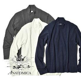 【20%OFFクーポン対象】アナトミカ モックネック Tシャツ 長袖 Tシャツ 無地 カットソー メンズ レディース ANATOMICA TEE MOCK NECK TEE L/S MADE IN JAPAN 日本製