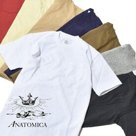 アナトミカ ポケT ポケTEE 半袖 Tシャツ 無地 カットソー メンズ レディース ANATOMICA MADE IN JAPAN 日本製