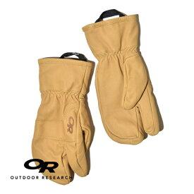 【20%OFFクーポン対象】アウトドアリサーチ アクセル 3 フィンガー ワーク グローブ 手袋 レザー 本革 防風 耐久 OUTDOOR RESEARCH