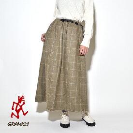 【20%OFFクーポン対象】グラミチ レディース ウールブレンド ロング フレア スカート WOOL BLEND LONG FLARE SKIRT
