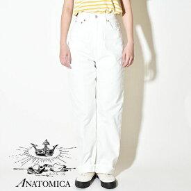 【20%OFFクーポン対象】【20%OFF SALE セール】アナトミカ マリリン1 ホワイト デニムパンツ ANATOMICA 618 MARILYN 1 ジーンズ ハイウエスト マリリン・モンロー 日本製