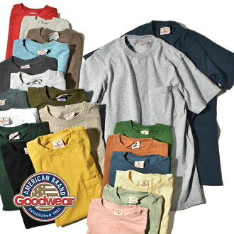 MADE IN USA made in the good wear Goodwear ポケ T TEE pocket T-shirt-maru trunk hall garment United States