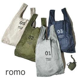 【20%OFF SALE セール】メール便可 ロモ romo エコバッグ Sサイズ メンズ レディース コンパクト レジ袋 コンビニバッグ INBENTO レジバッグ インベント
