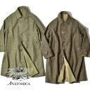アナトミカ シングルラグラン 2 バルマカーンコート ステンカラーコート リバーシブル ギャバジン ツイード シャワー…