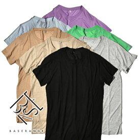 【10%OFFクーポン対象】Baserange ベースレンジ TEE SHIRT Tシャツ カットソー 半袖 バンブー 竹