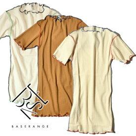【10%OFFクーポン対象】Baserange ベースレンジ VEIN TEE ヴェイン Tシャツ カットソー 半袖 オーガニックコットン