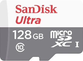 128GB microSDXCカード マイクロSD SanDisk サンディスク Ultra CLASS10 UHS-I R:80MB/s SDSQUNS-128G-GN6MN/9893
