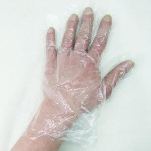 送料無料メール便 使い捨て手袋 ポリエチレン手袋 透明フリーサイズ 100枚入りx1箱