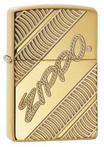 送料無料メール便 ジッポー オイルライター USAデザイン ロゴ ゴールド#29625