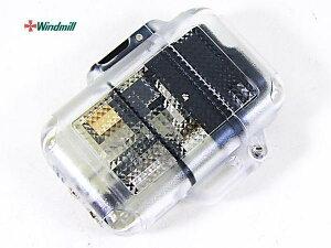 送料無料(北海道沖縄離島除く)ウインドミル ターボライター Zag シースルー黒(0001)x1個