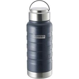 送料無料(北海道沖縄離島除く)ステンレスボトル 550ml 水筒 マイボトル 真空二重 マインドフリー ネイビー MF-05N/3679x1本