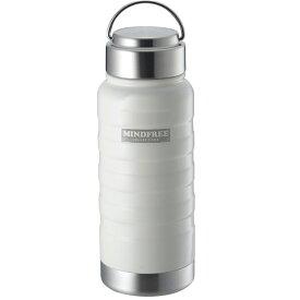送料無料(北海道沖縄離島除く)ステンレスボトル 550ml 水筒 マイボトル 真空二重 マインドフリー ホワイト MF-05W/3574x1本