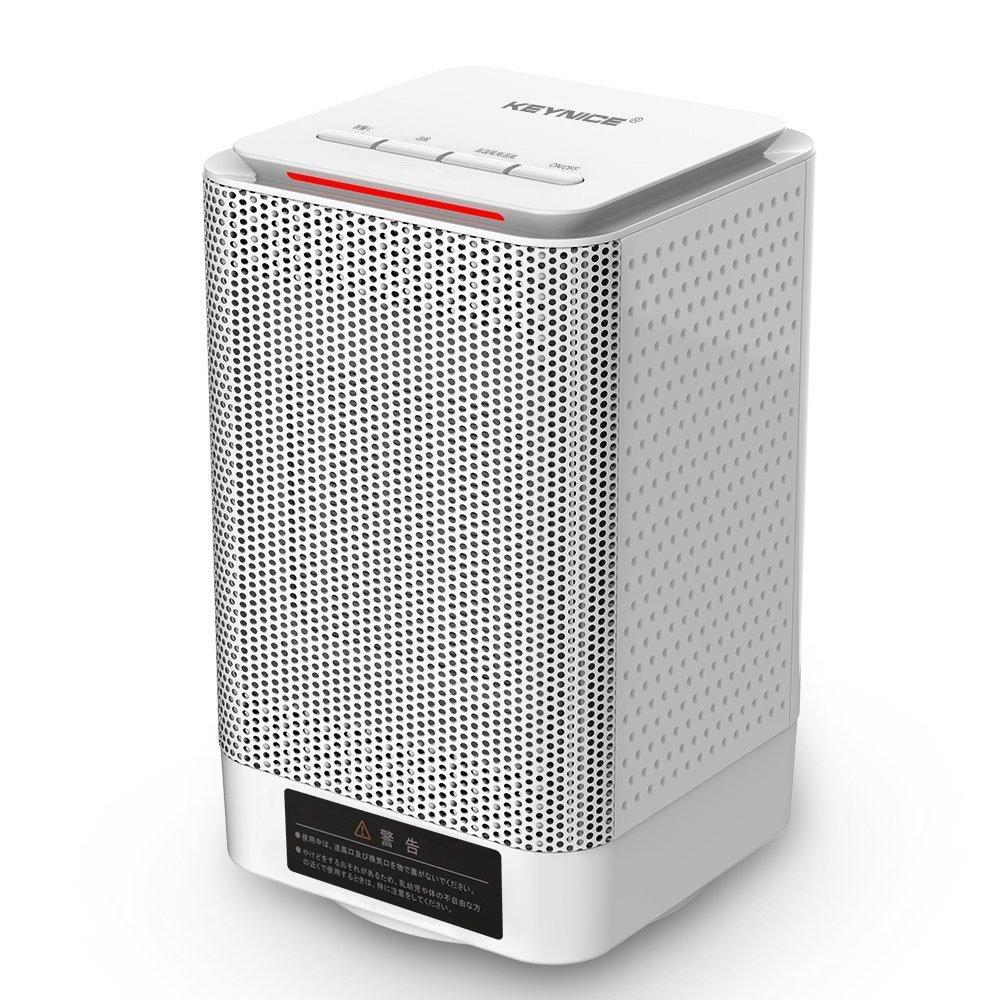 【全商品送料無料】KEYNICE 首振り 超小型 セラミックファンヒーター PSE取得済 足元ヒーター 暖房器具 小型 温風&熱風 速暖 2段階切替式 110V AC給電 ホワイト