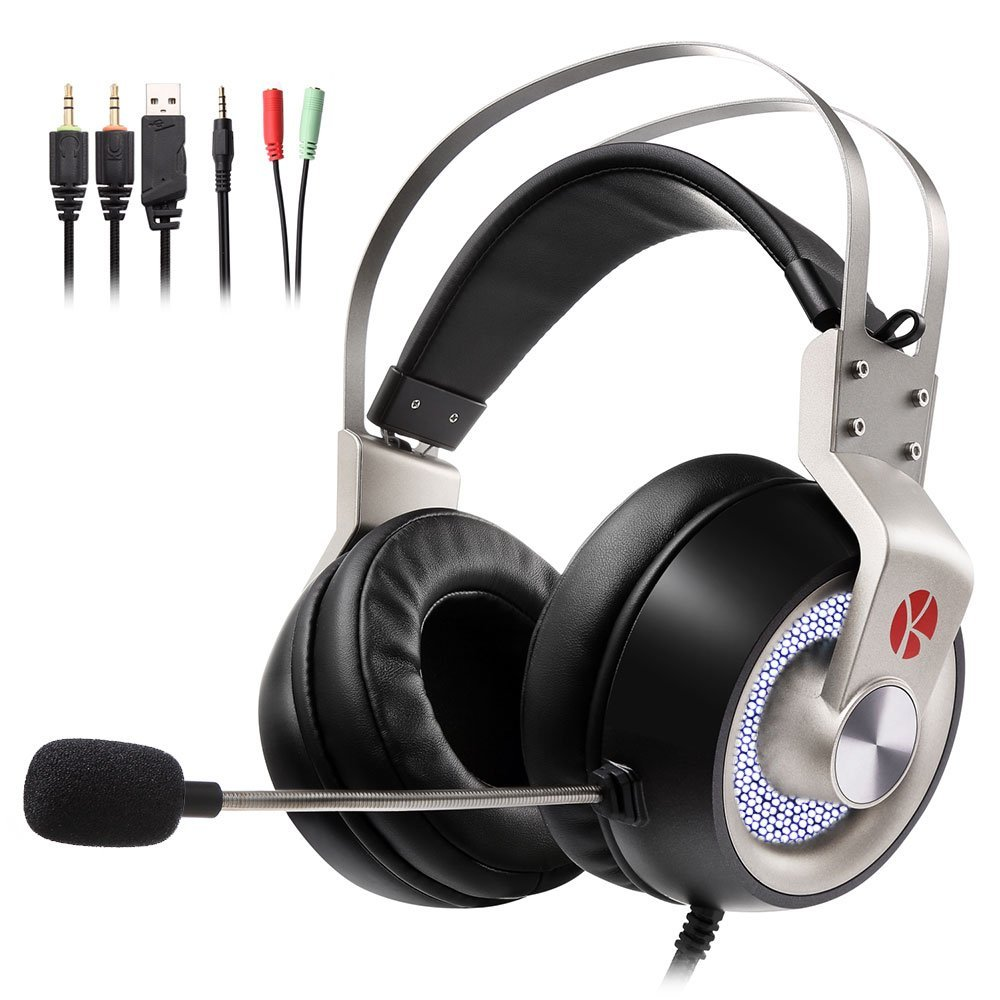 【期間限定ポイント10倍 -8/16】 KEYNICE ゲーミングヘッドセット ps4 イヤホン ヘッドホン ステレオ 高音質 マイク付き 3.5mmコネクタ 4極変換ケーブル付き